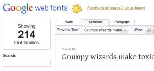 Google Web Fonts Site