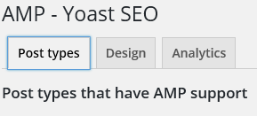 AMP Yoast Tabs for Settings