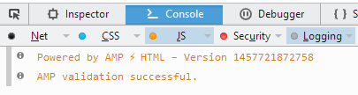 AMP Validation in Firefox