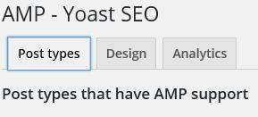 AMP Yoast Tabs for Settings